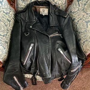 Vintage Biker zipper leather jacket